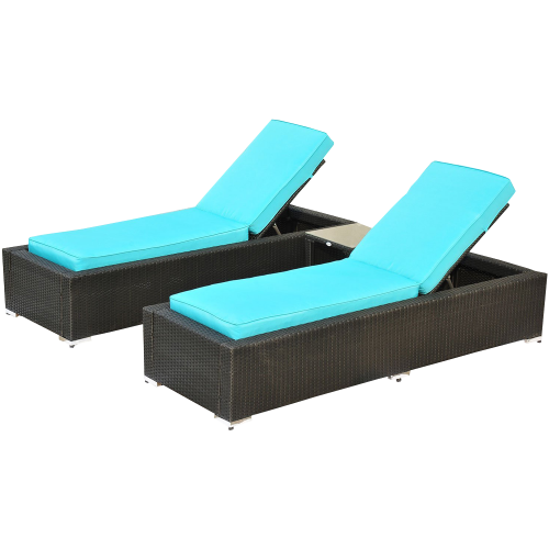 Lounge Chair Set with Side Table