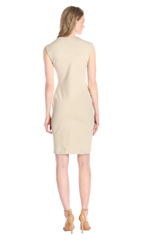 Anne Klein Women's Cap-Sleeve Asymmetric Ruffle Dress