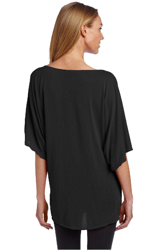 Women's Short Sleeve Off Shoulder Dolman Shirt