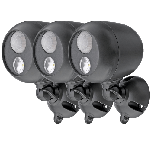 Wireless LED Spotlight with Motion Sensor and Photocell - Weatherproof - Battery Operated - 140 Lumens