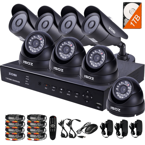 HD Security Camera System with 8 Indoor- Outdoor Night Vision Security Cameras