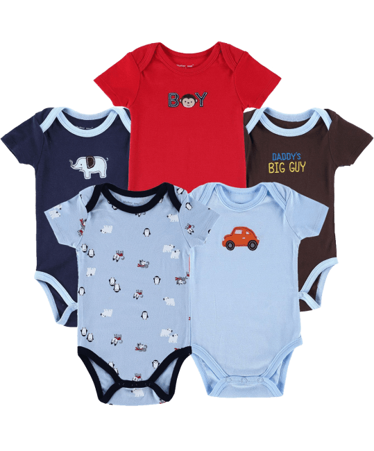 Mother Nest Short Sleeve Onesies Baby Bodysuit for Baby Boys-Girls