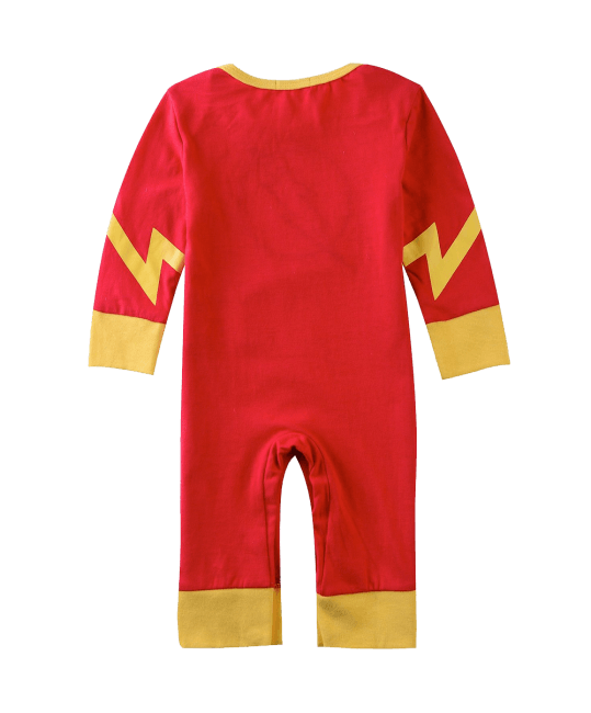 A&J Design Baby Boys' The Flash Long Sleeve Romper