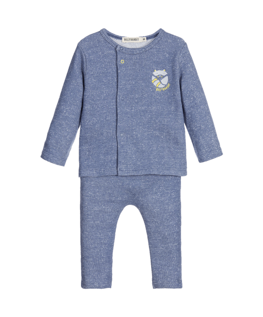 Billybandit Baby Boys 2 Piece Speckled Blue Trouser Set