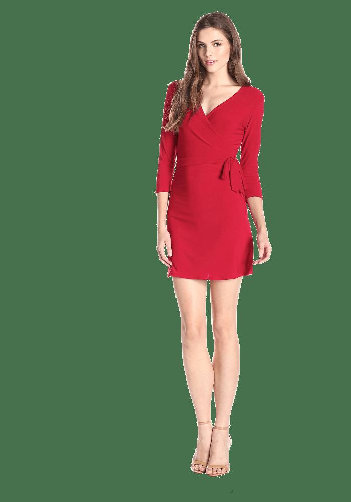 Star Vixen Women's Faux Wrap Dress