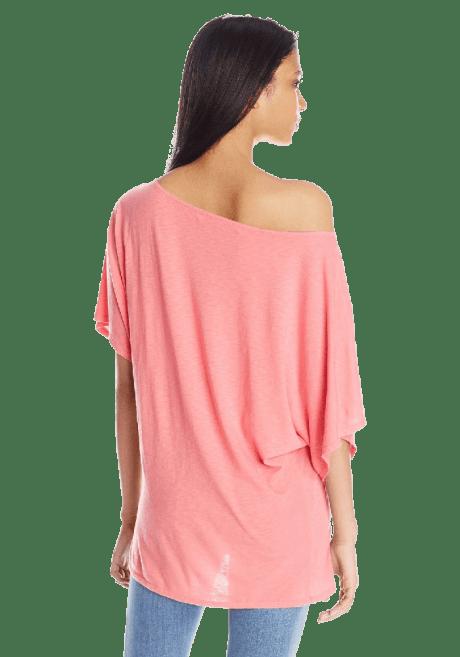 Women's Short Sleeve Off Shoulder Dolman Shirt