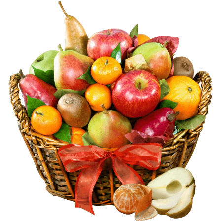 Fruit Orchard Delight and Gourmet Gift Basket