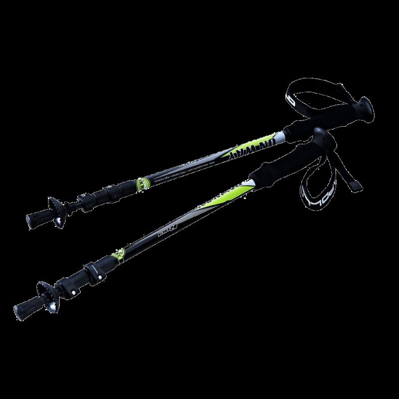 Onway 100% Carbon Fiber Anti-shock Adjustable Alpinestock Hiking Trekking Poles