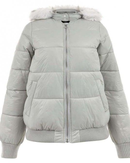 Faux Fur Trim Puffer Jacket