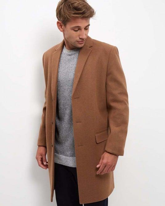 Wool Mix Longline Overcoat