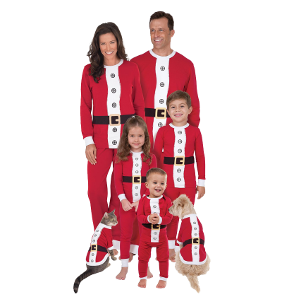 PajamaGram Santa Suit Christmas Matching Family Pajama Set