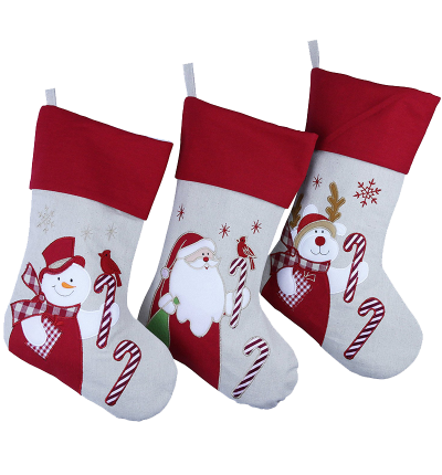 Wewill Brand Lovely Christmas Stockings Set of 3 Santa
