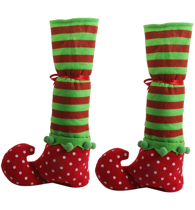 Christmas Table Leg Covers Elf Elves Feet Shoes Legs