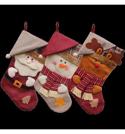 3 PCS SeT-18 Christmas Stockings