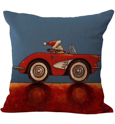 Santa Clau Square Pillowcase Cushion Cover Case