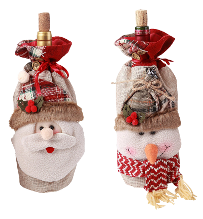 Santa Claus Christmas Candy Bag Treat Pocket Home Gift Decor
