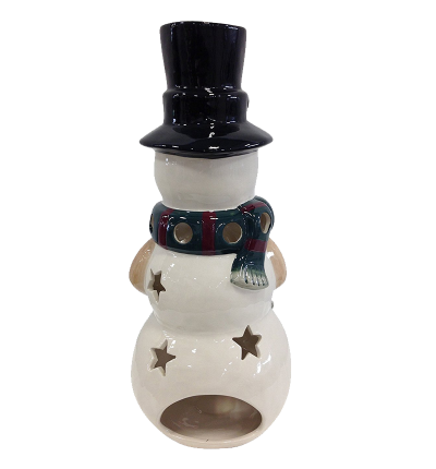 Holiday Snowman Candle Lantern