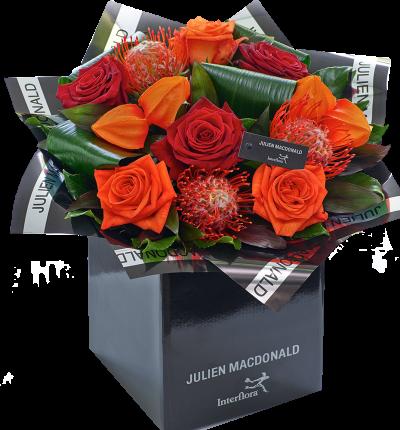 Julien Macdonald Dazzling Autumn Rose Hand tied