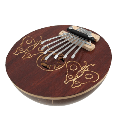 Hand Carved Coconut Karimba Mbira Thumb Piano