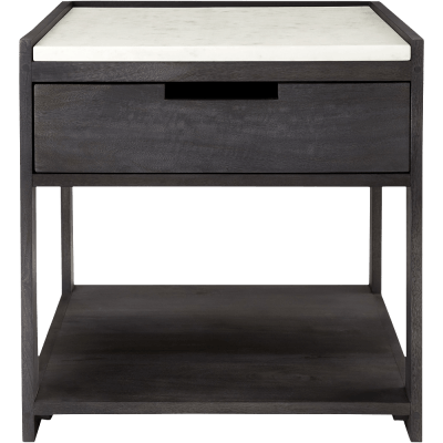 Tux marble top nightstand