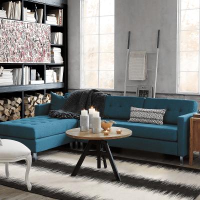 Ditto II peacock sectional sofa