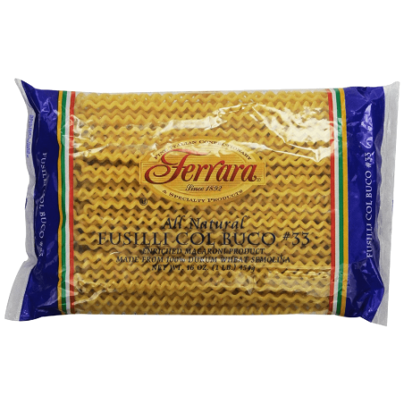 Ferara-Pasta,-Long-Fusilli,-1-Pound-(Pack-of-12)