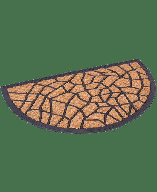 BirdRock Home 18 x 30 Half Round Natural Coir and Rubber Doormat