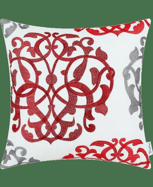 CaliTime Home Decor Cushion Covers Pillows Shell White Cotton Canvas Three