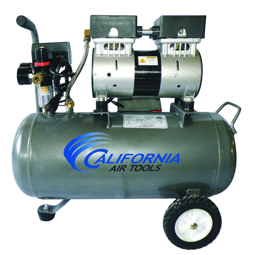 CAT-6310 Ultra Quiet and Oil-Free 1.0 Hp 6.3-Gallon Steel Tank Air Compressor