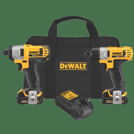 DCK210S2 12-Volt Max Screwdriver-Impact Driver Combo Kit