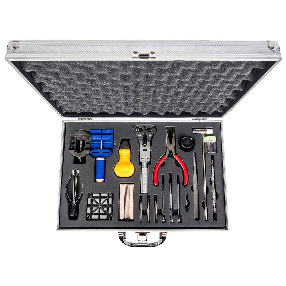 LGI Premium Watch Repair Kit with Reusable Aluminum Box