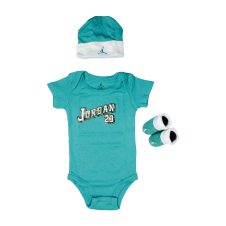 Jordan-Baby-Clothes-3-piece-Set-Teal-Jordan-23--Size-0-6-Months