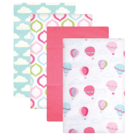 Luvable-Friends-Flannel-Receiving-Blankets,-Balloons,-4-Count