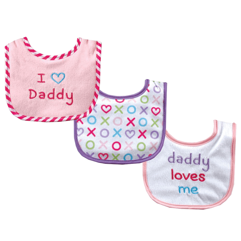 Luvable-Friends-I-Love-Mommy-and-Daddy-Baby-Bibs,-Blue-Daddy