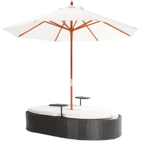 Chaise Lounge Bed with Umbrella