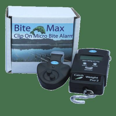 Bite-Max-Fishing-Twin-Pack-,-Micro-Bite-Alarm-Indicator-&-Catch-Weight-Pro-2