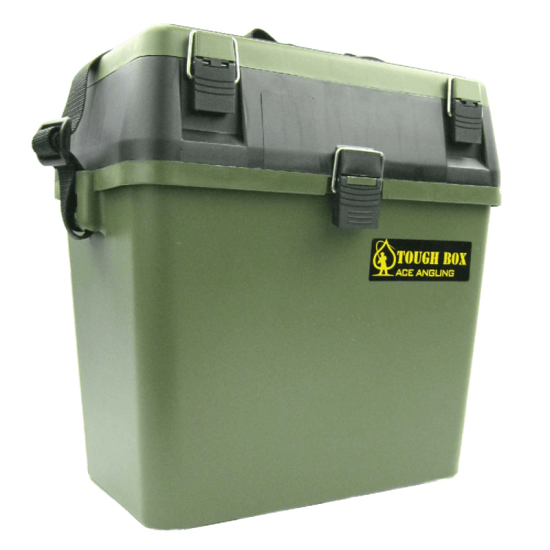 Fishing-Tackle-Seat-Box-Includes-Padded-Strap-&-Seat-Pad-Very-Strong-Freepost