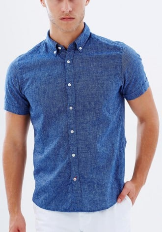 Cotton Linen Chambray Shirt from Tommy Hilfiger