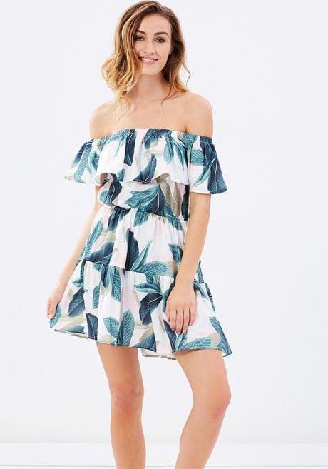 MINKPINK Avalon Off-the-Shoulder Dress