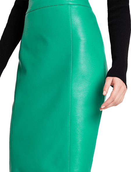 Bright Green Faux Leather...