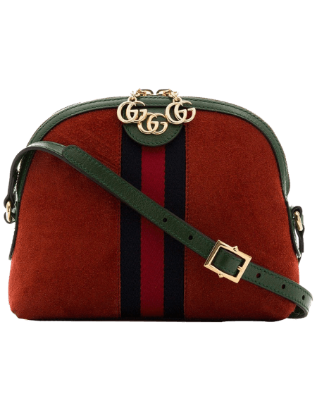 Gucci Red Ophidia Suede...