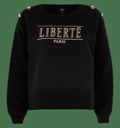 Black `Liberte` Button...