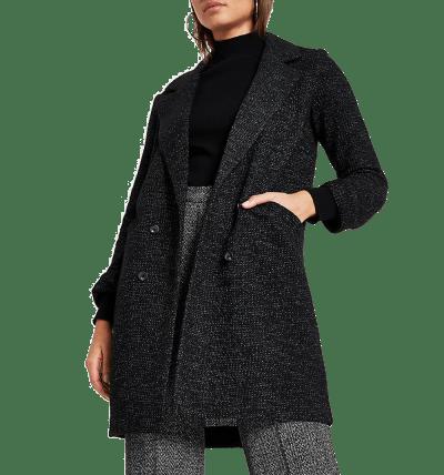 Black Long Line Jersey Blazer