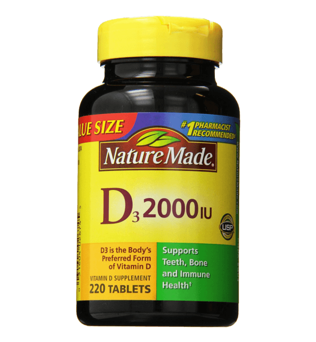 Nature Made Vitamin D3 2000 IU Value Size 220-Count