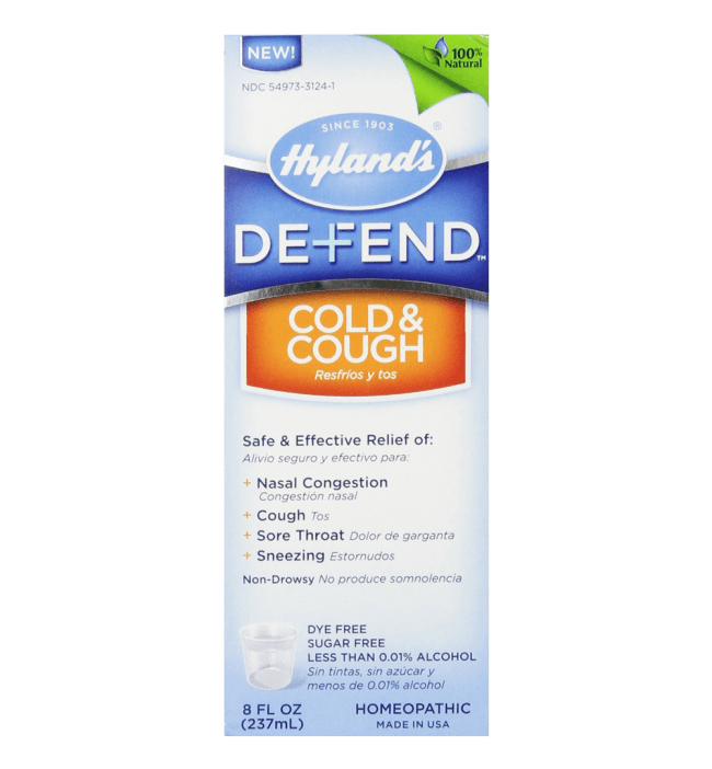 Hyland's Defend Cough and Cold 8 Ounce