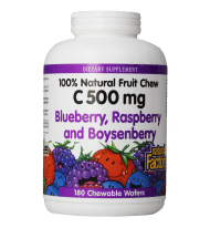 Vitamin C Blueberry Raspberry Boysenberry Chewables 500mg Wafers 180-Count