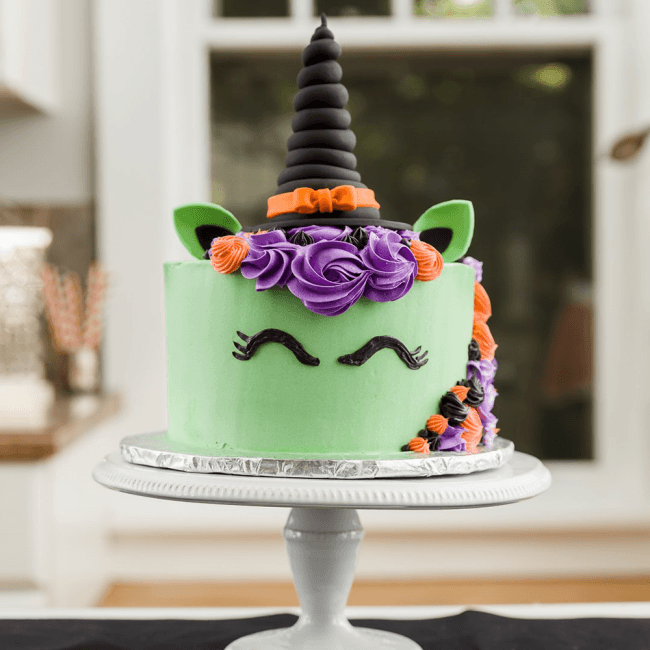 Halloween Witch Unicorn Cake