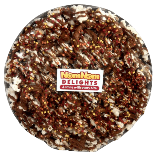 Chocolate Lovers Popcorn Pizza in a Box