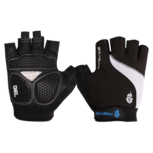 Short Half Finger Gloves Breathable Mesh