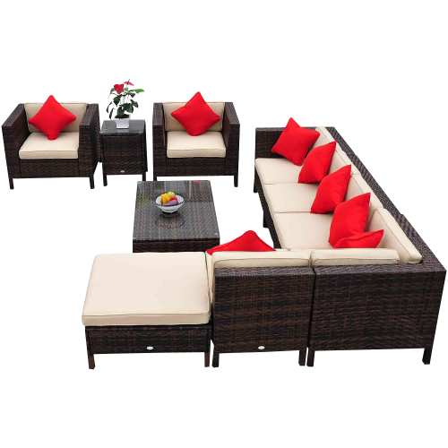 Patio Sofa Chair Set